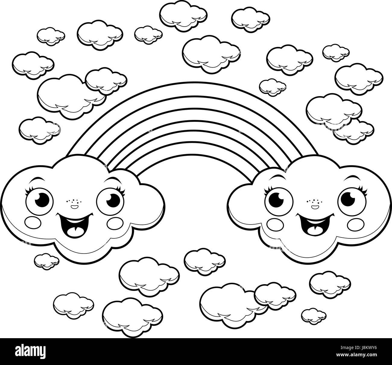 Cloud Line Drawing Stockfotos & Cloud Line Drawing Bilder - Alamy