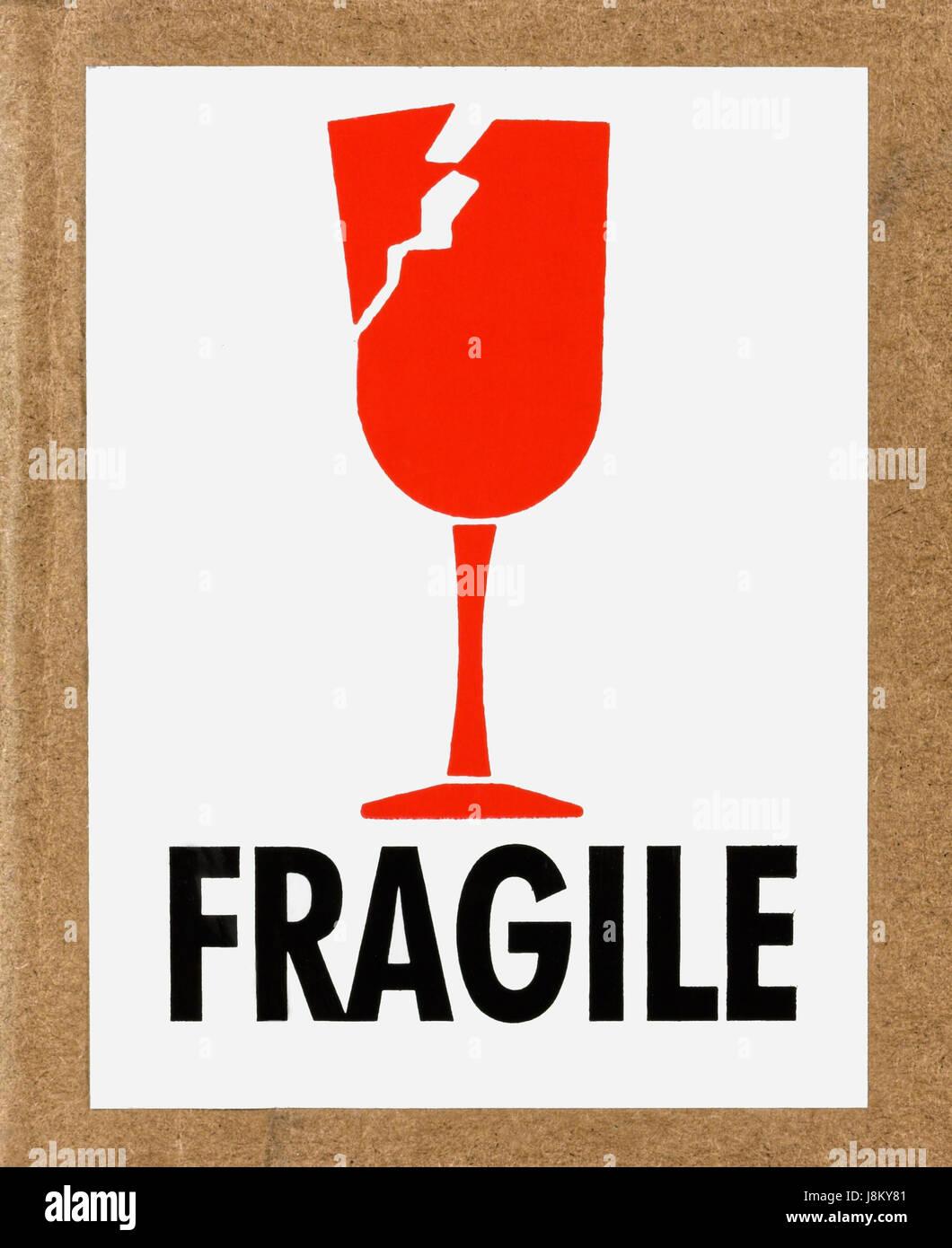 Paket Zerbrechlich Etikett Schild Pakete Pakete