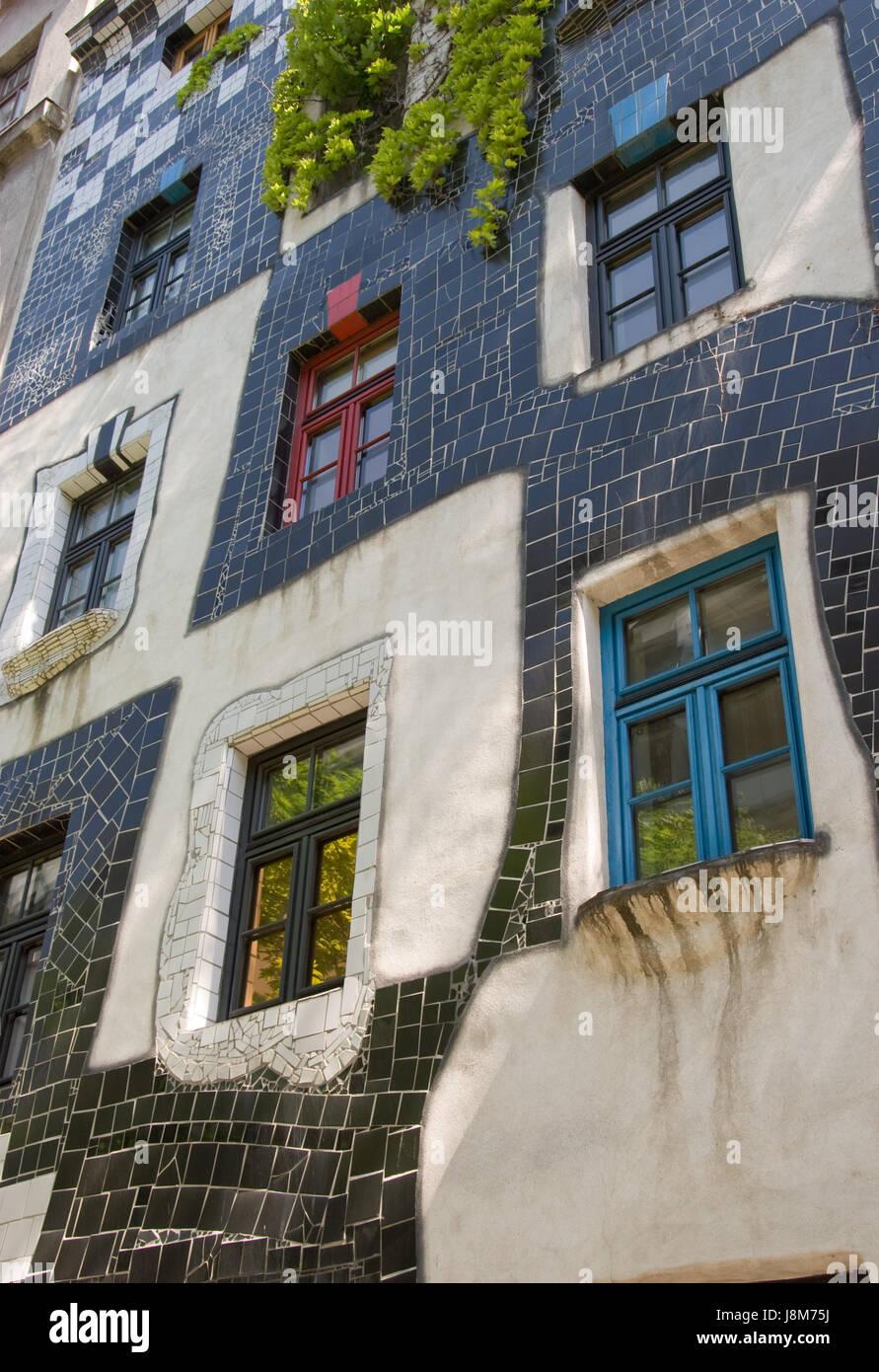 Haus, Gebäude, Kunst, Modern, moderne, Wien, Österreich, Europa ...