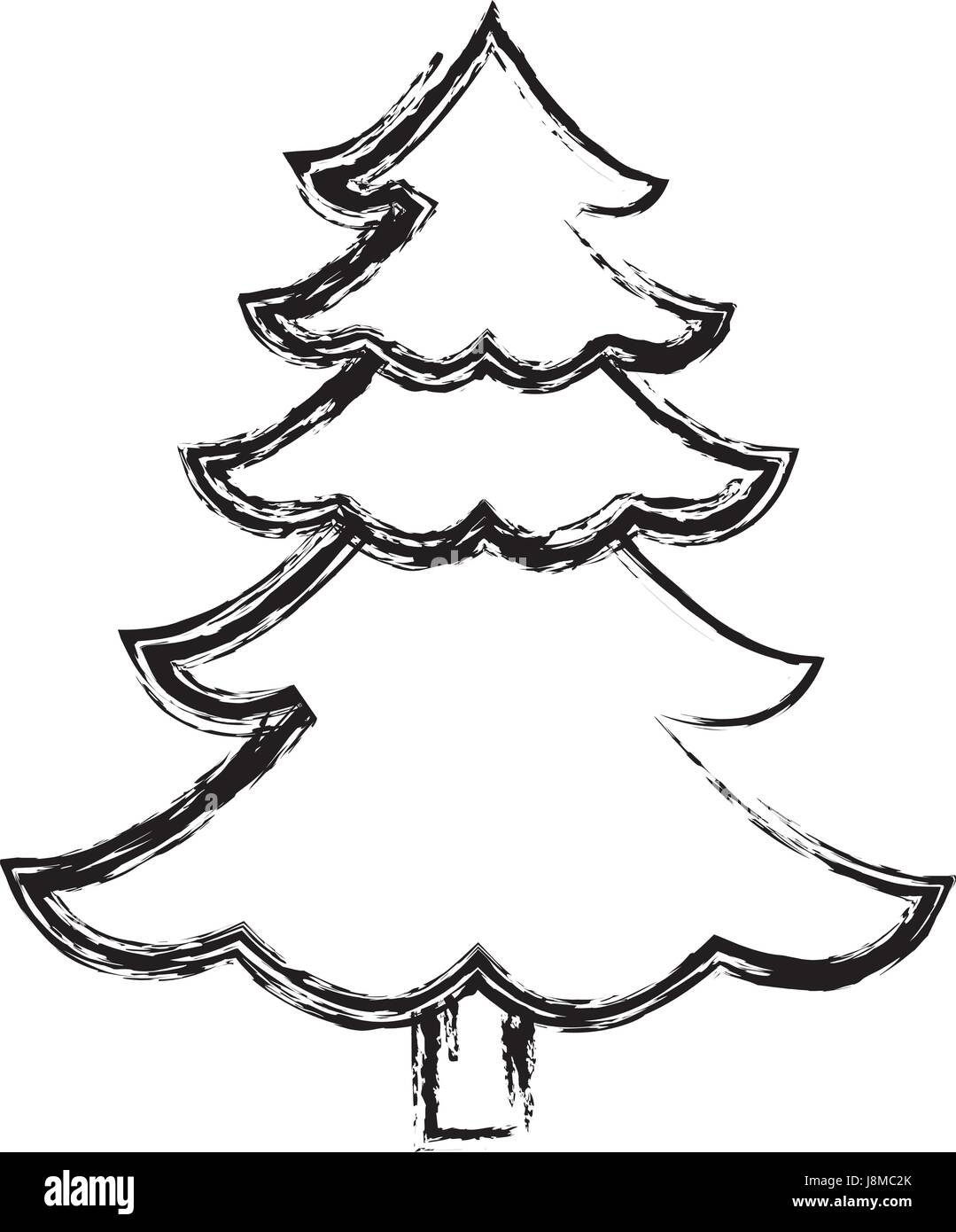 Pine tree isolated icon vector stockfotos pine tree - Weihnachtsbaum kiefer ...