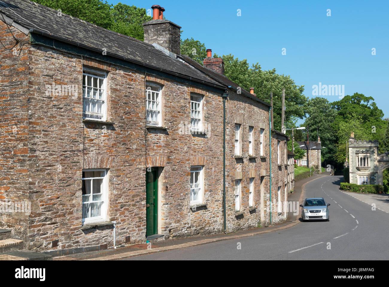 Das Dorf von st.germans in Cornwall, England, Großbritannien, uk Stockbild