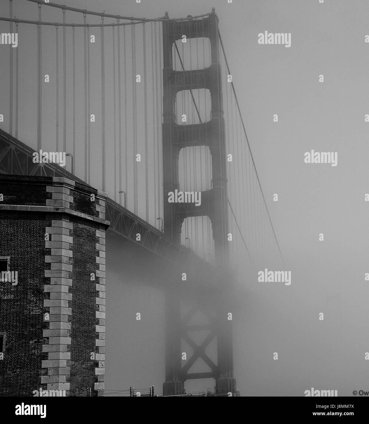 Golden Gate Bridge - San Francisco, Kalifornien Stockbild