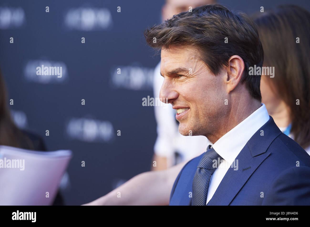 Madrid Madrid Spanien 29 Mai 2017 Tom Cruise Besucht Die Mumie