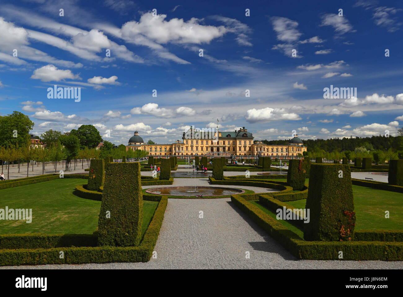 Brüssel. 25. Mai 2017. Foto aufgenommen am 25. Mai 2017 zeigt den Blick von der königlichen Domäne Stockbild