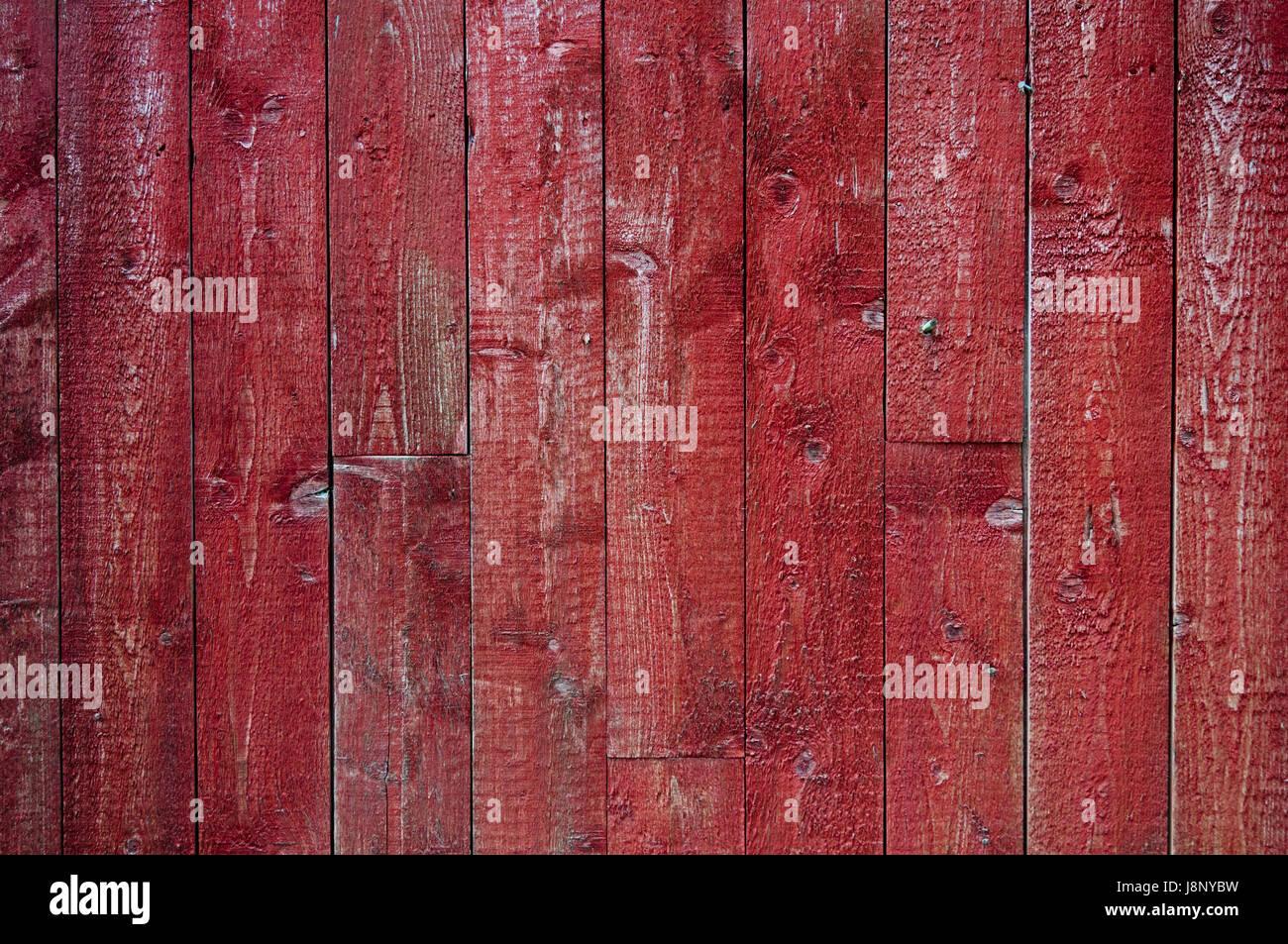 Roten Holzwand Stockfoto