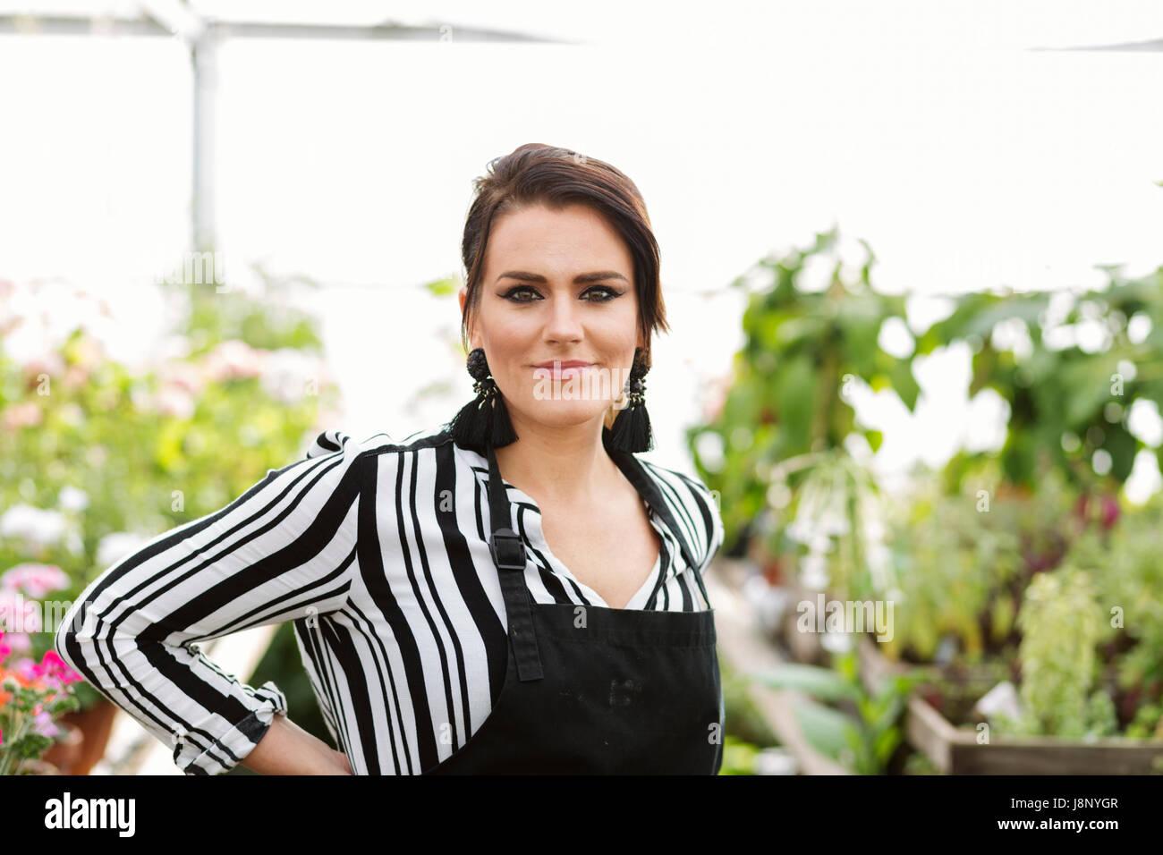 Porträt von florist Stockfoto