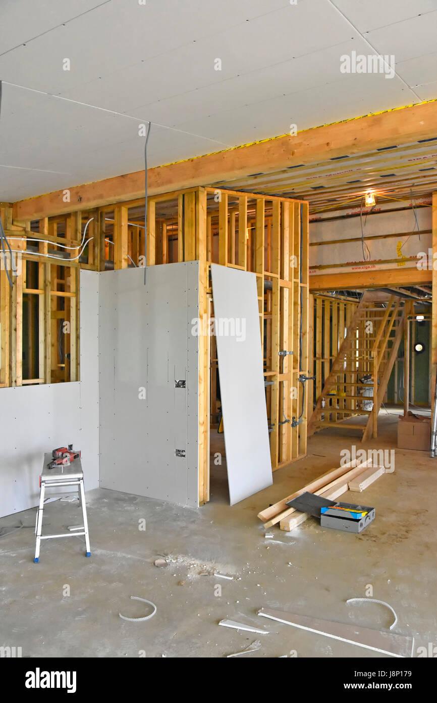 innenraum des neuen uk energie effiziente passivhaus mit