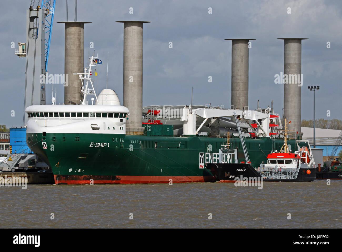 Das Frachtschiff E Ship 1 Befindet Sich Im Hafen Von Emden Stockfoto