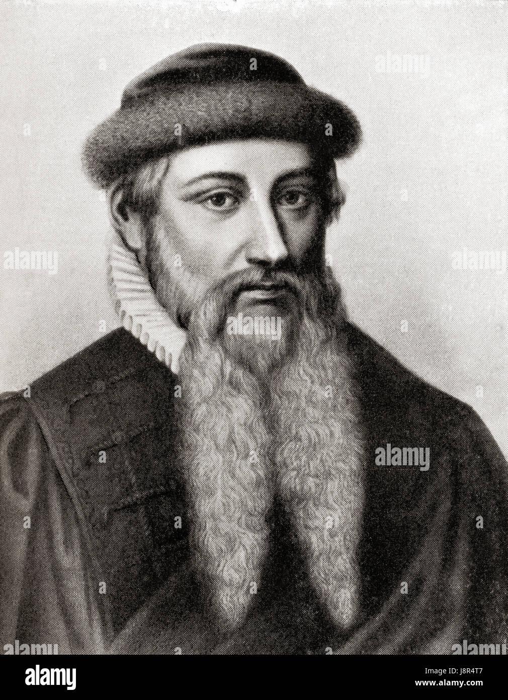 Johannes Gutenberg Printing Press Stockfotos und  bilder Kaufen ...