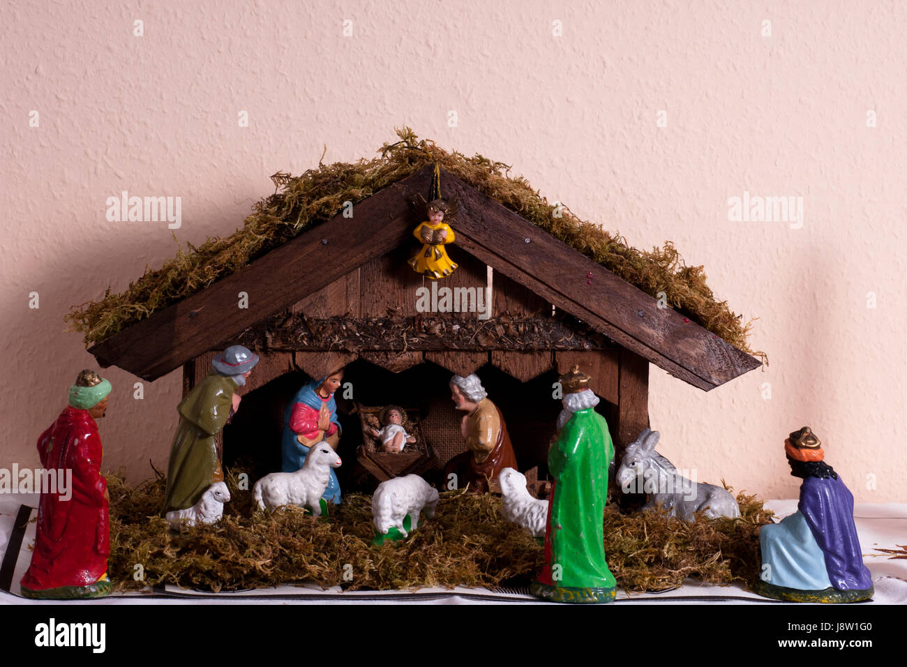 stabil, Esel, Christus, Krippe, Krippe, Stall, Weihnachten, Xmas, x ...
