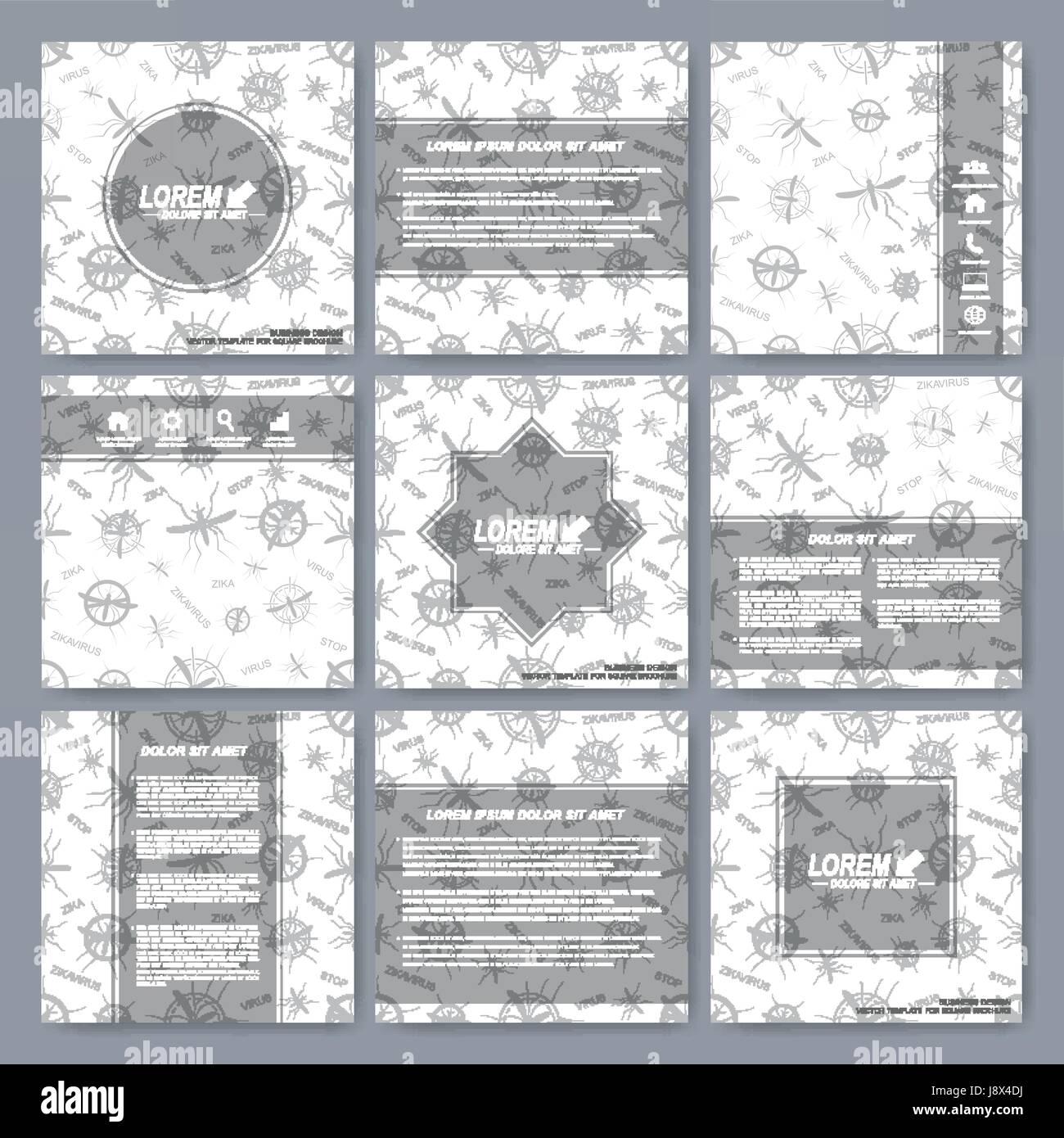 Moderne Vektor Vorlagen für Broschüre, Broschüre, Flyer, cover, Magazin oder jährlichen Bericht. Stockbild