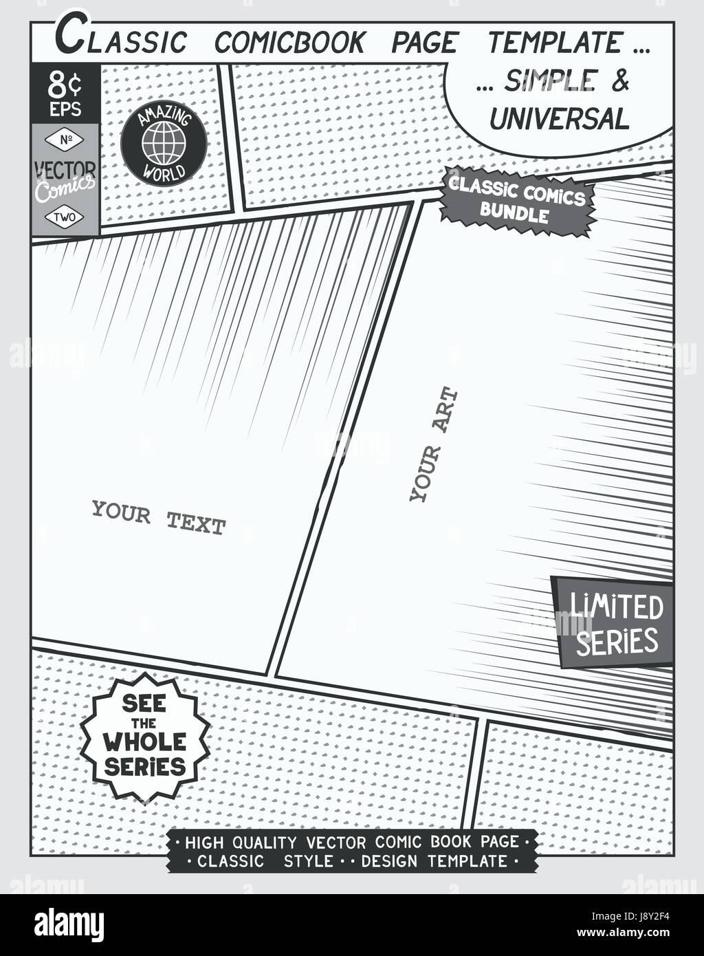 Ausgezeichnet Comic Buch Seiten Vorlage Galerie - Entry Level Resume ...