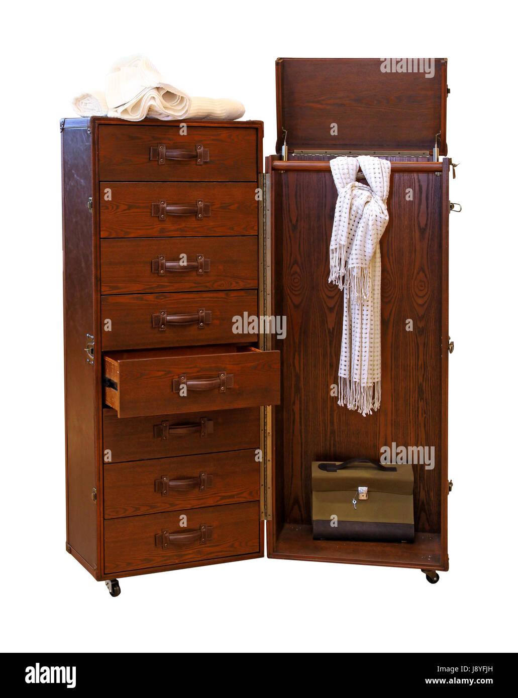 Möbel Mobile Retro Holz Tragbar Schrank Kleiderschrank