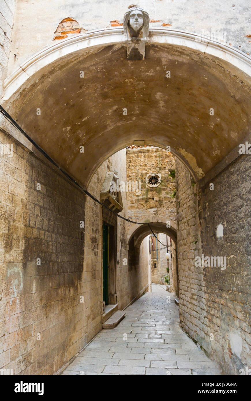 alte Stadt, Sibenik, Dalmatien, Kroatien Stockbild