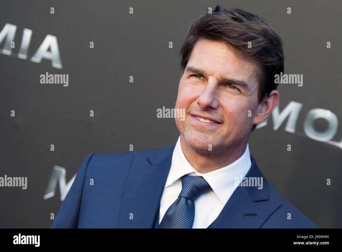 Madrid Spanien 29 Mai 2017 Tom Cruise Besucht Die Mumie