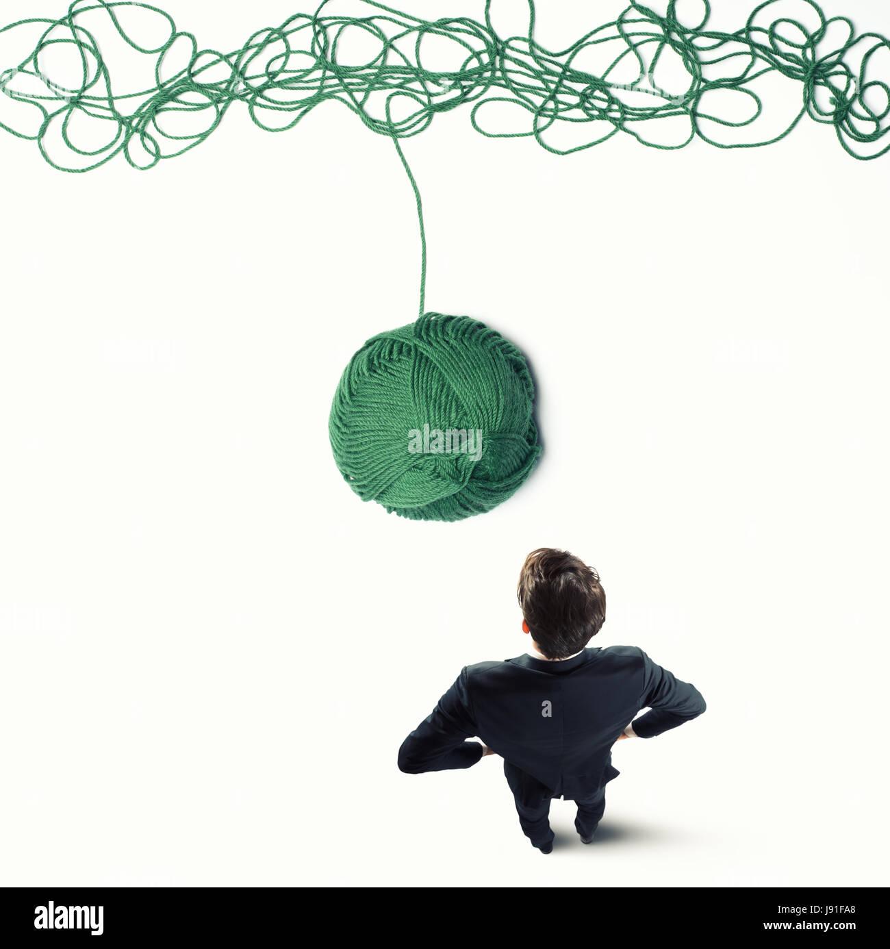 Konzept der Lösung und Innovation mit Wolle ball Stockbild