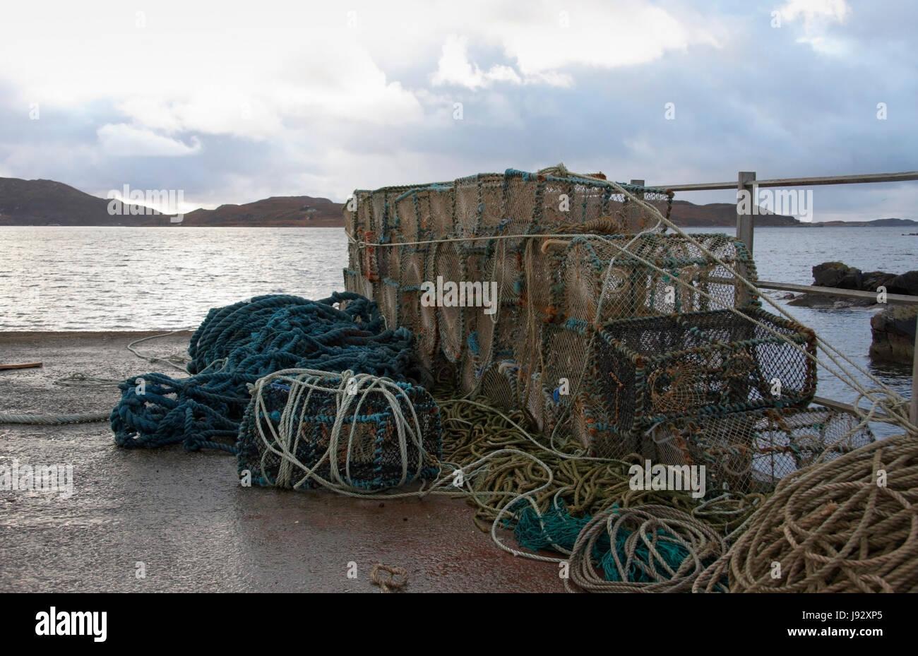 Schottland, idyllische, Geländer, Lobster Pot, Tourismus, Cloud, Strand, Meer, die Stockbild