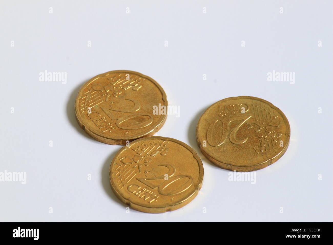 Verkaufen Euro Münze Sparen Kaufen Cent Geld Verkaufen