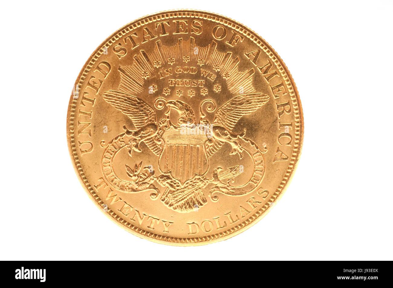 Dollar Dollar Amerikanisch Münze Adler Doppel Gold Dollar