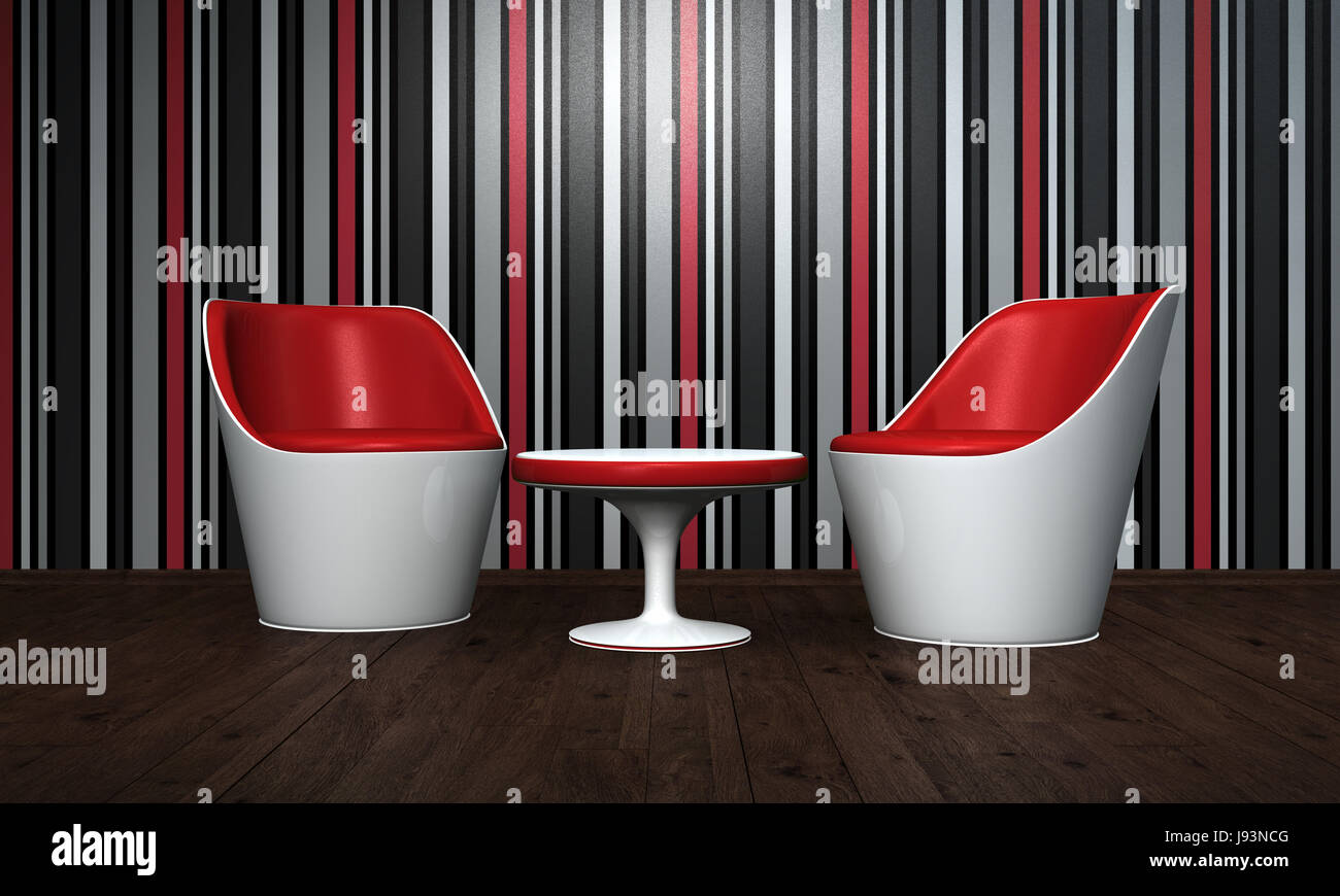 Table Apartment Flat Wood Chairs Architectural Stockfotos & Table ...