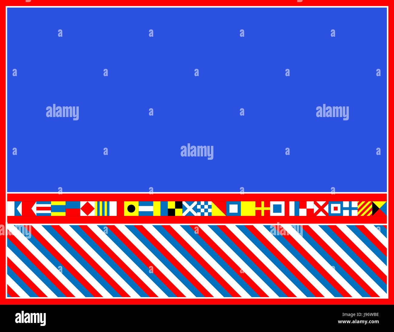 blau, Flagge, nautische, Rahmen, Rahmen, weiß, rot, Rahmen, Zeichen ...