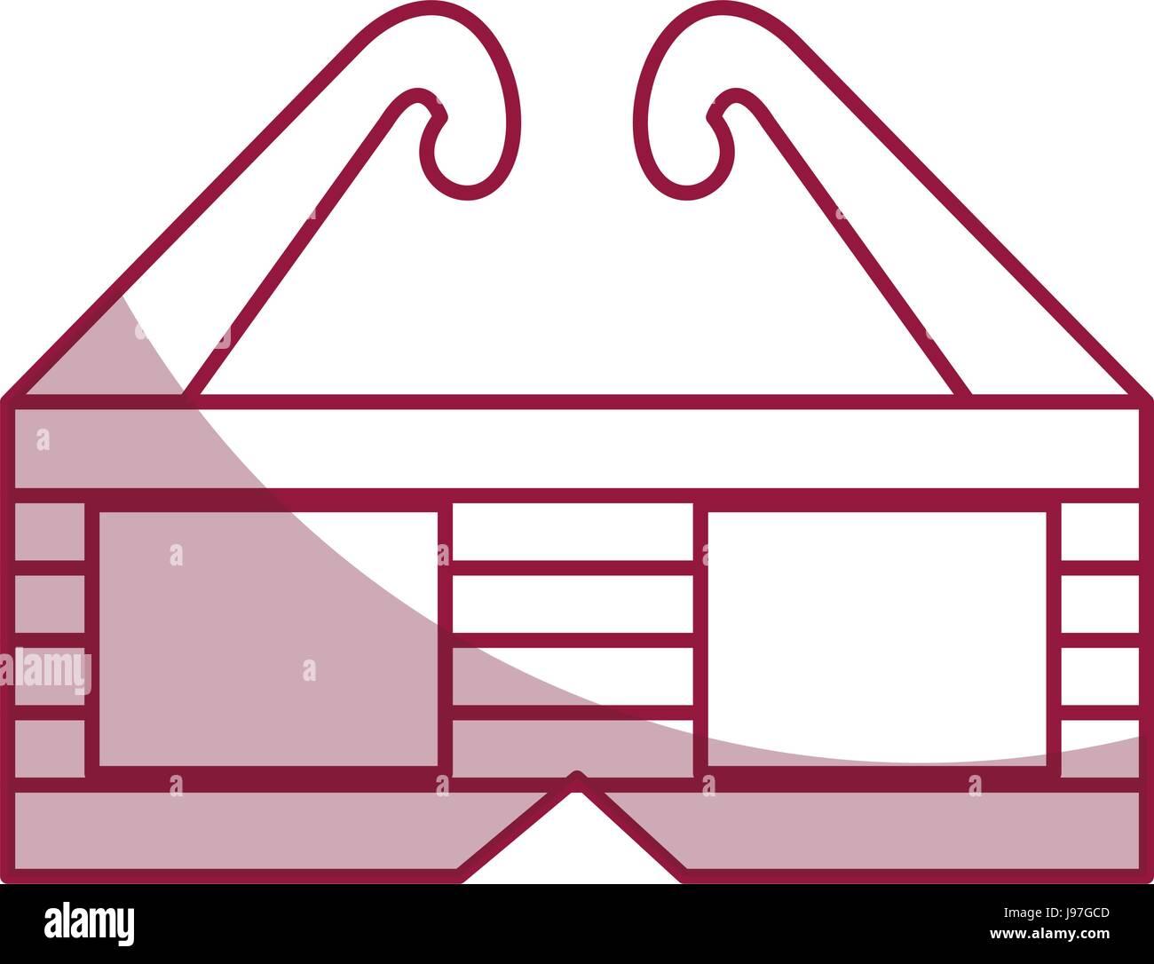 3d Brille Kino-Symbol Stockbild