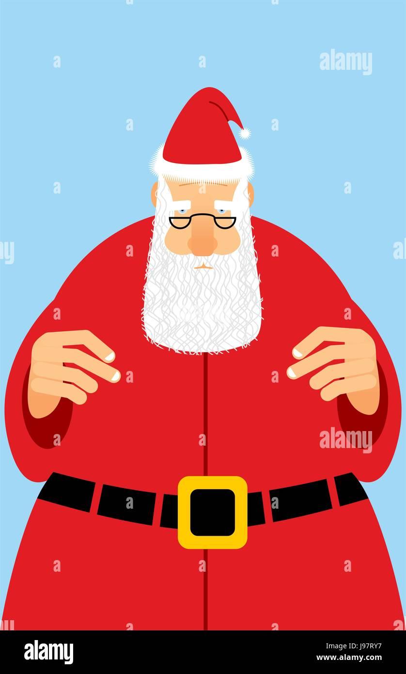 Weihnachtsmann im roten Kleid. Weihnachten-Charakter mit weißem Bart ...