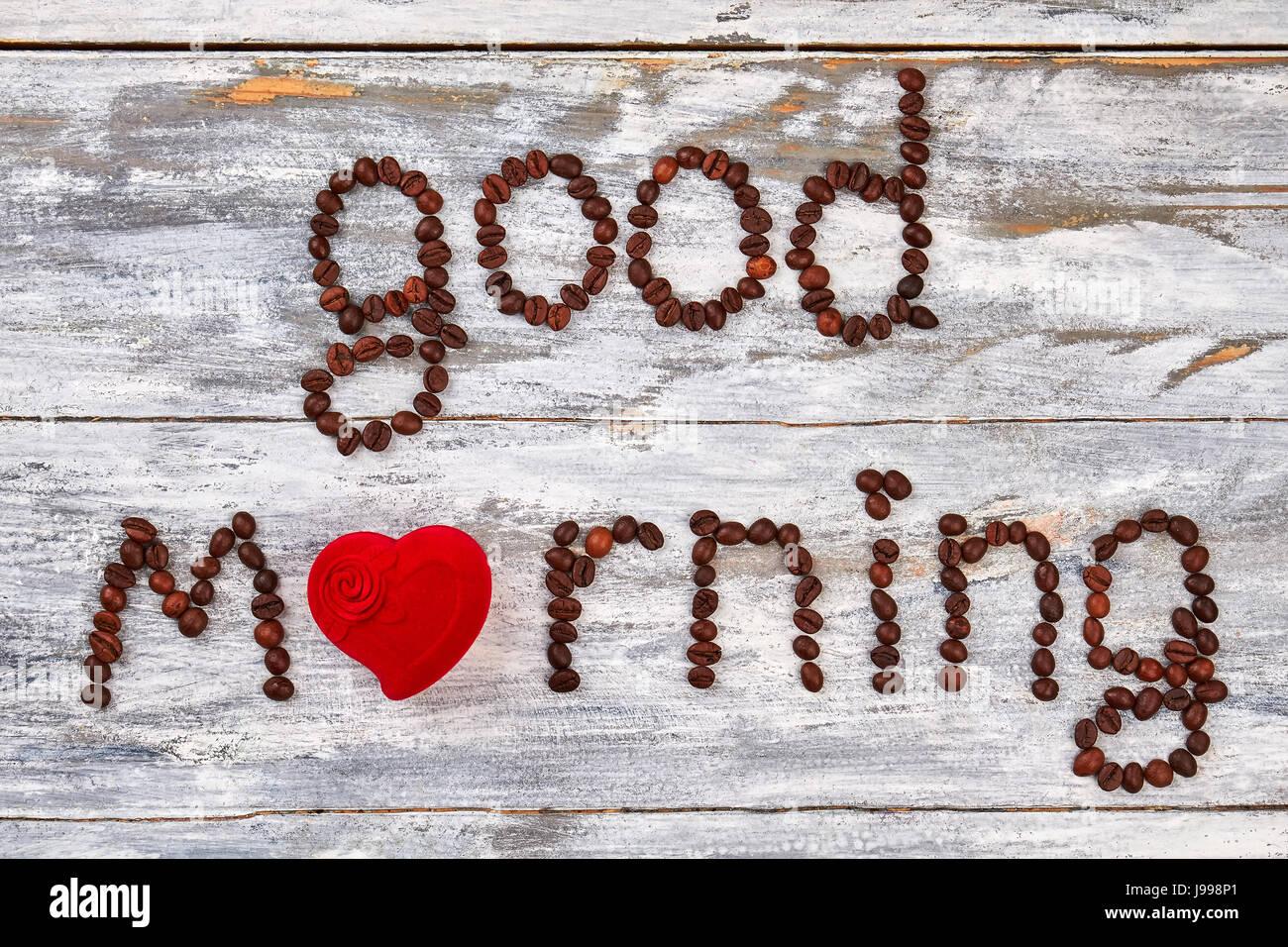 Guten Morgen Aus Herz Stockfoto Bild 143419305 Alamy