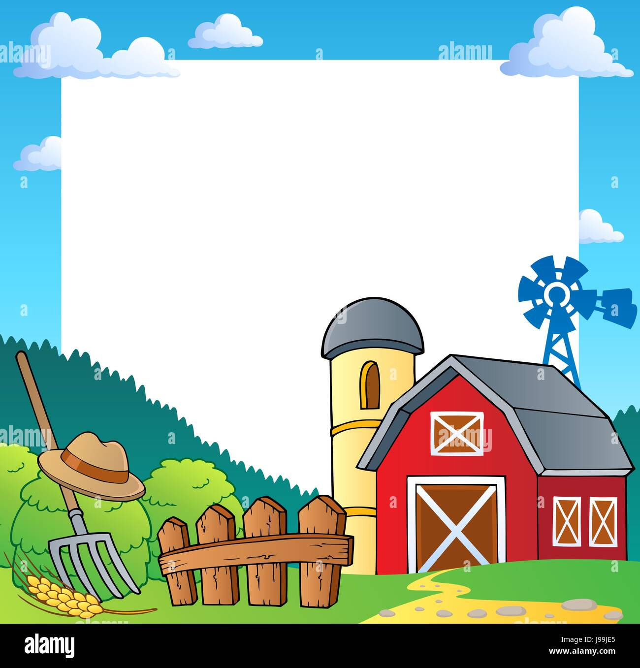 Farmyard Barn Cartoon Stockfotos & Farmyard Barn Cartoon Bilder - Alamy