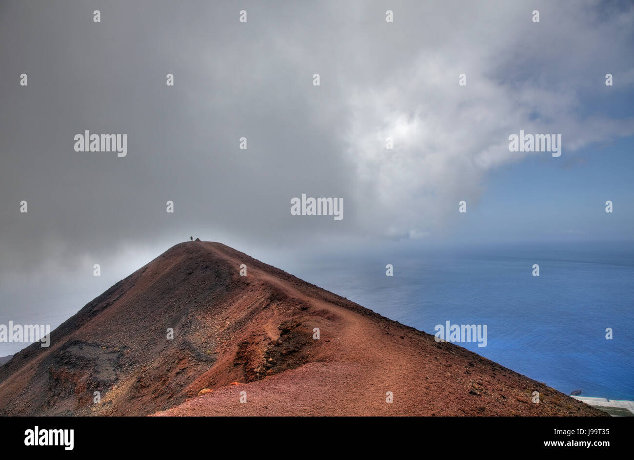 Kanaren, ändern in Wetter, Vulcan, Vulkan, Wolken, Kanaren, blau, Stockbild