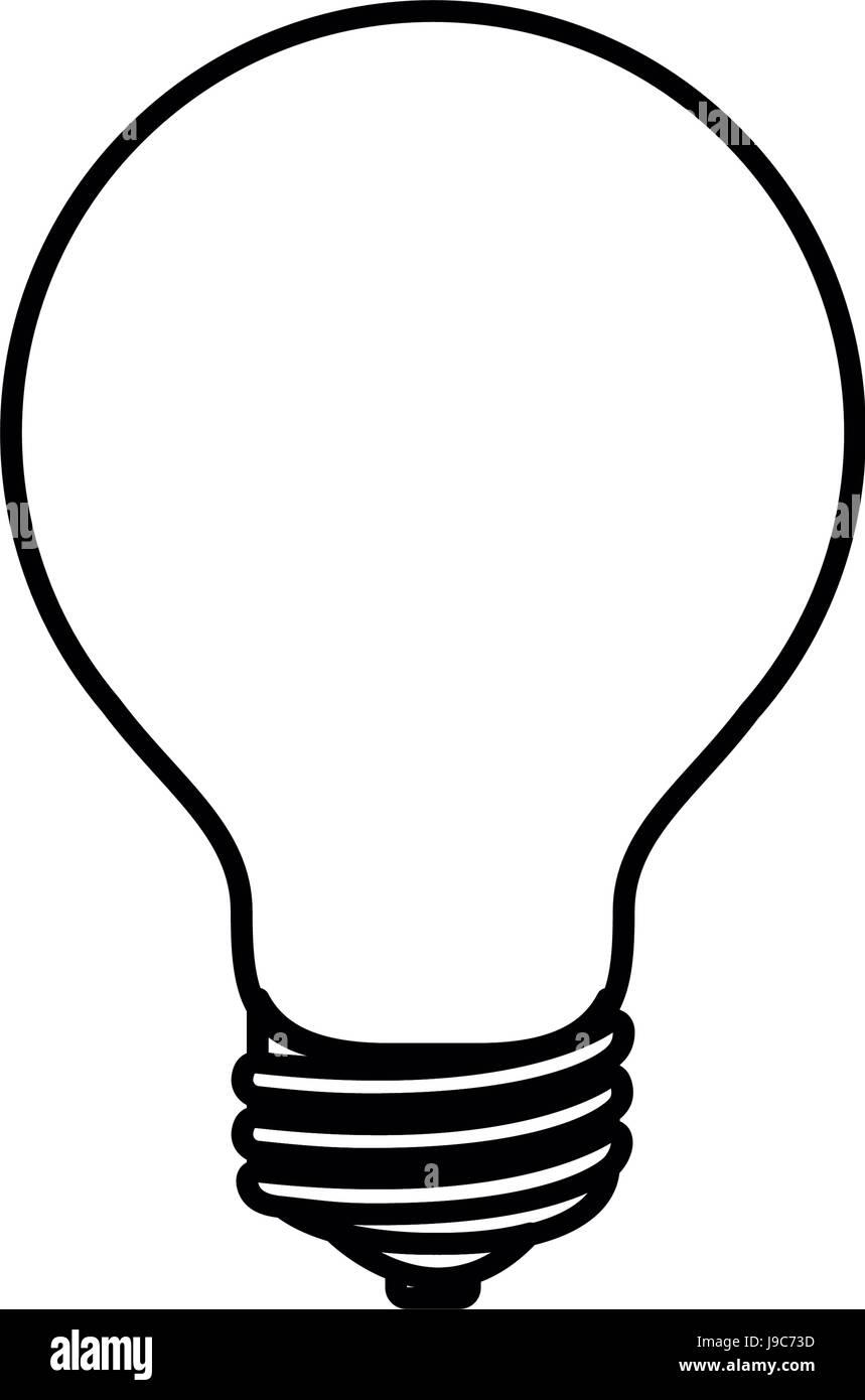 Skizze Silhouette Bild Glühbirne von Symbol Vektor Abbildung - Bild ...
