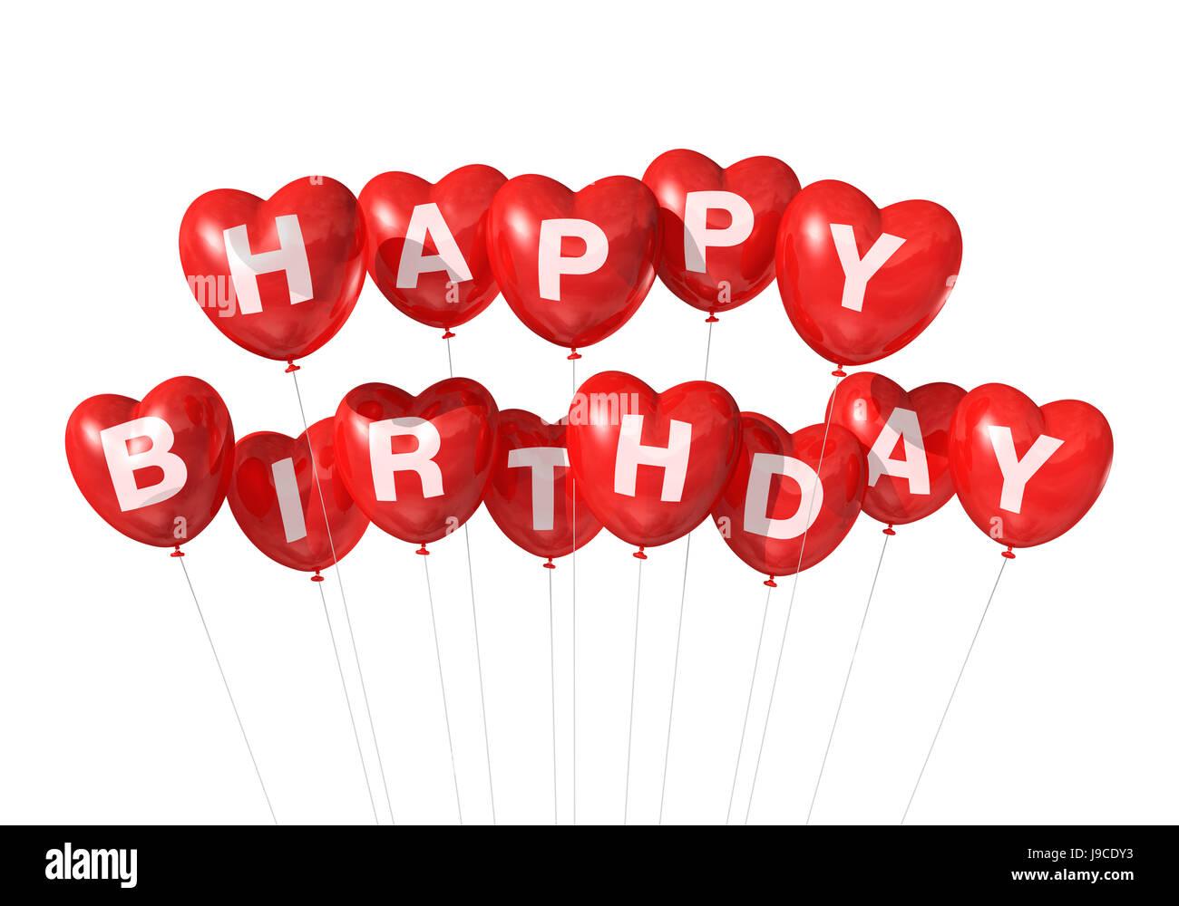 Geburtstag Ballons Ballon Ballon Liebe Verliebt Verliebt Herz