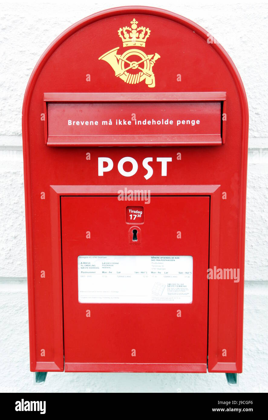 Dänemark Krone Postkarte Brief E Mail Postfach Rot Post