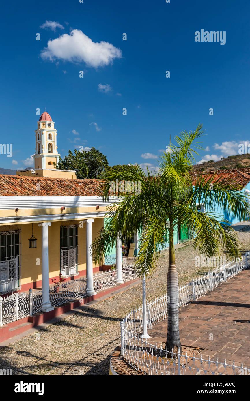 Der Convento de San Francisco und Plaza Mayor, Trinidad, UNESCO World Heritage Site, Kuba, Karibik, Karibik Stockbild