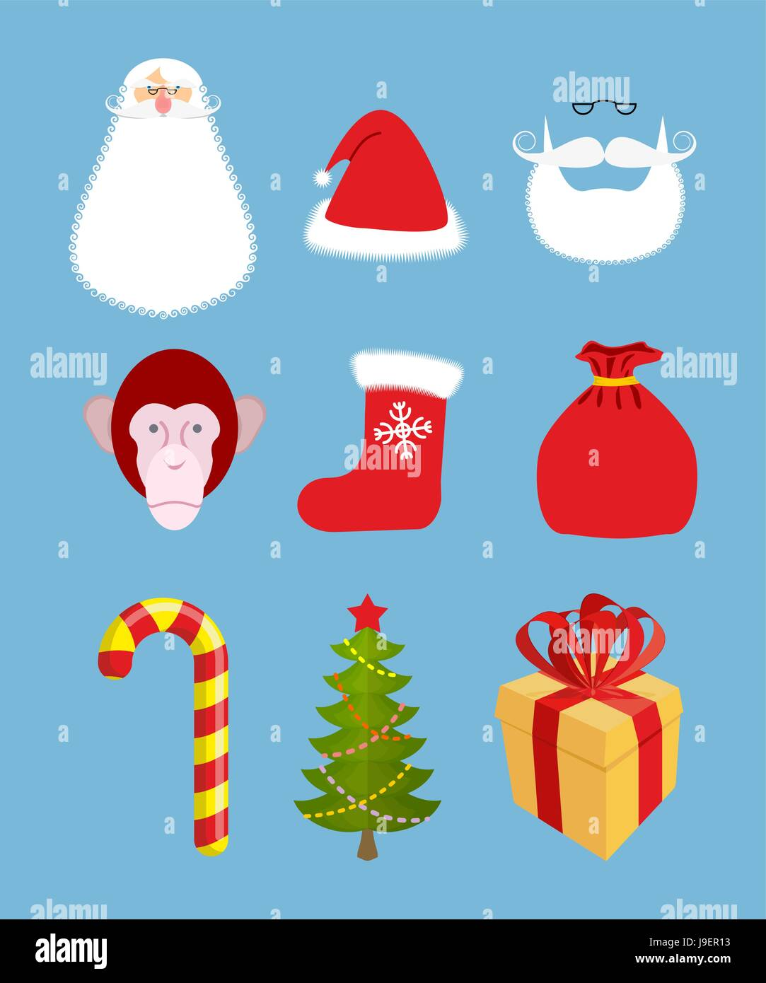 Weihnachts-Icons set. Zeichen: Weihnachten und neues Jahr Geschenk ...