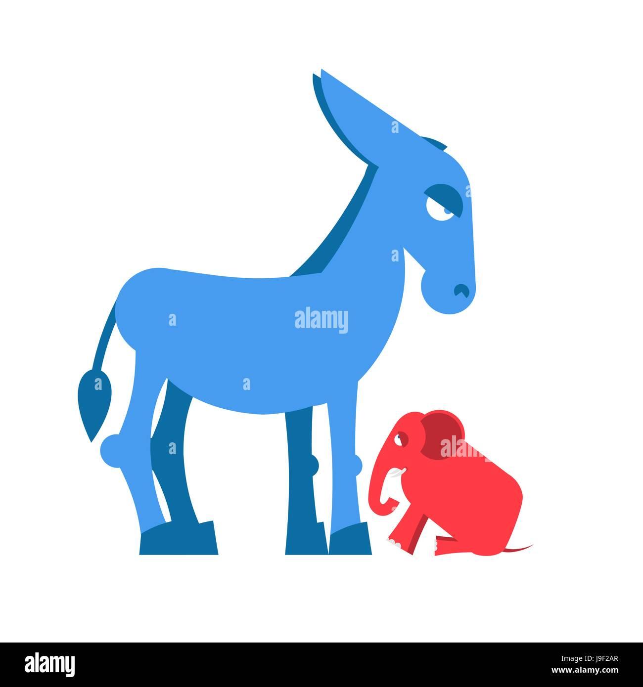 Republicans Democrats Cartoon Stockfotos & Republicans Democrats ...