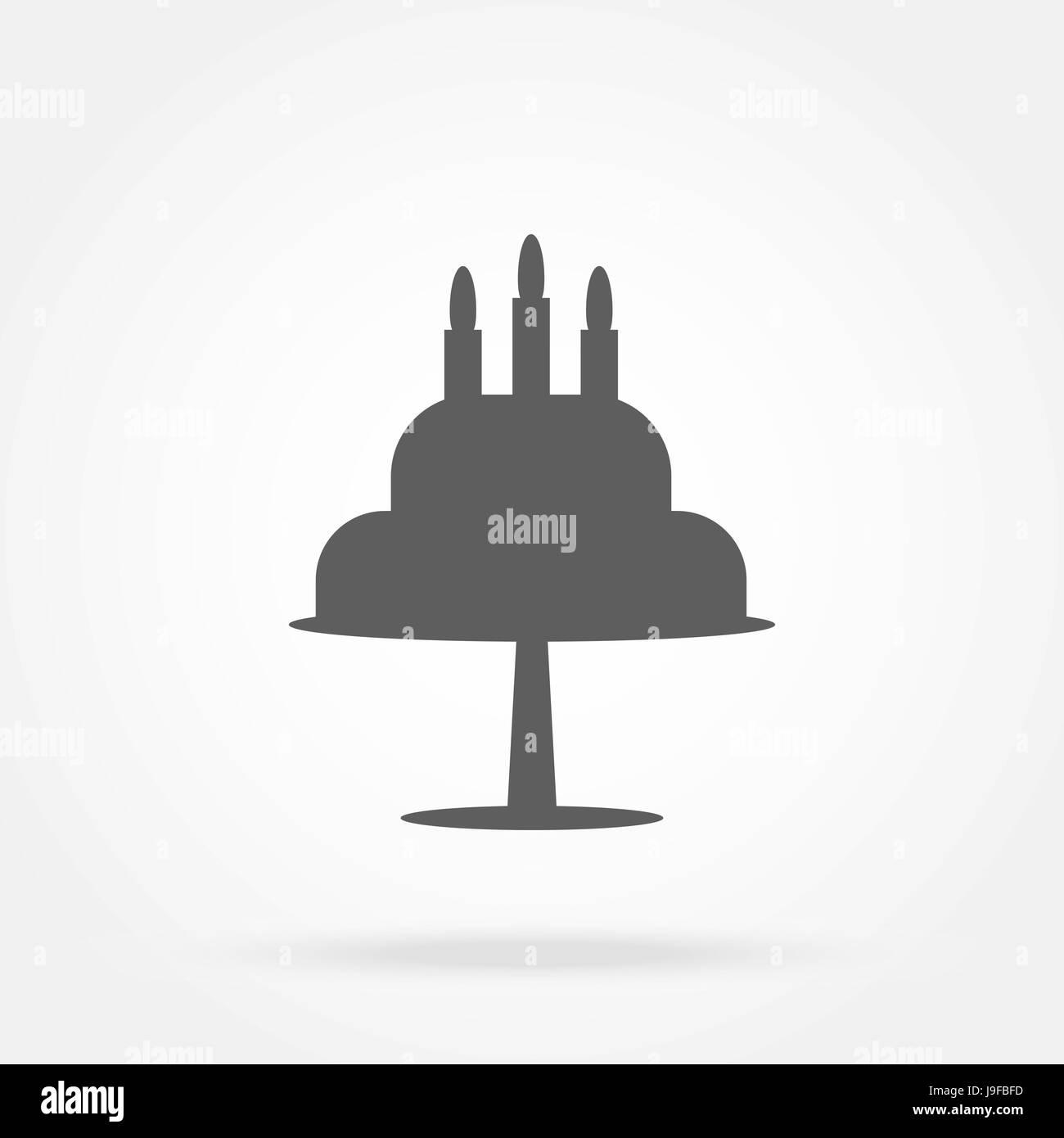 Kuchen Icon Vektor Vektor Abbildung Bild 143553185 Alamy