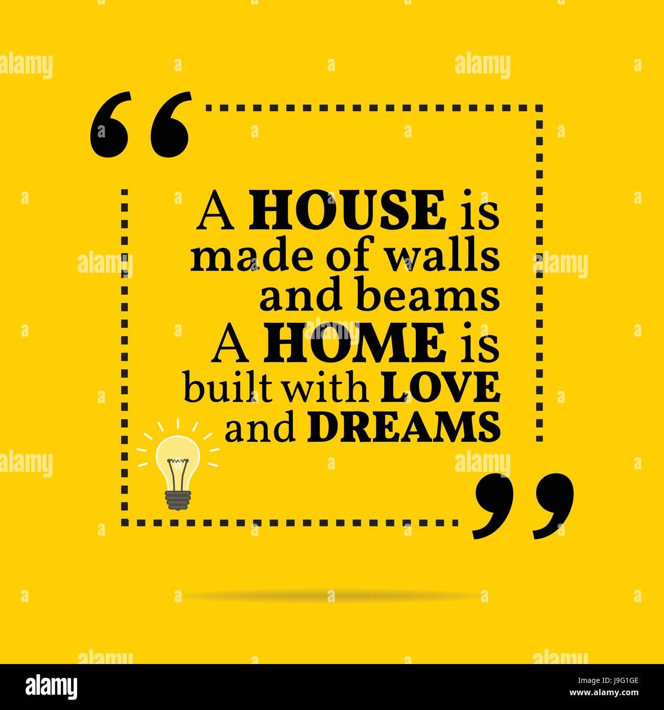 Extrem Inspirierend, motivierend Zitat. Ein Haus setzt sich aus Wände und VR17