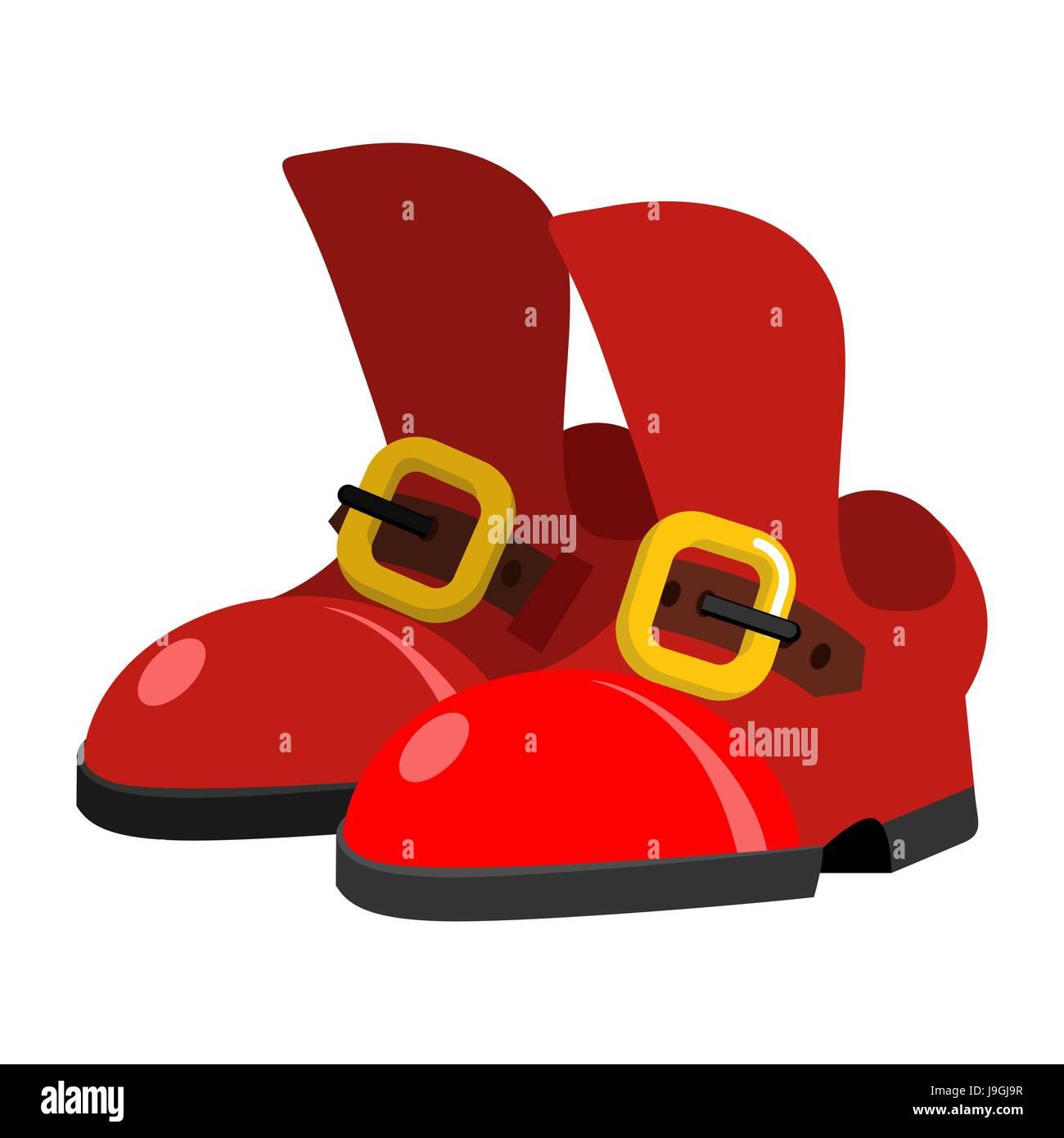 Red Boots Elf Weihnachtsmann Helfer. Schuhe-Zauber-Zwerg für ...