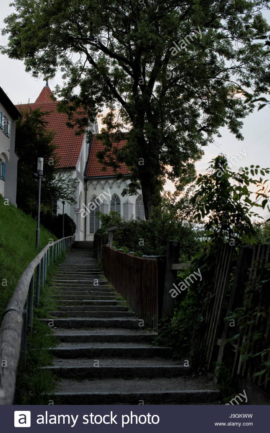 St. Blasius in Kaufbeuren, Bayern, Deutschland Stockbild