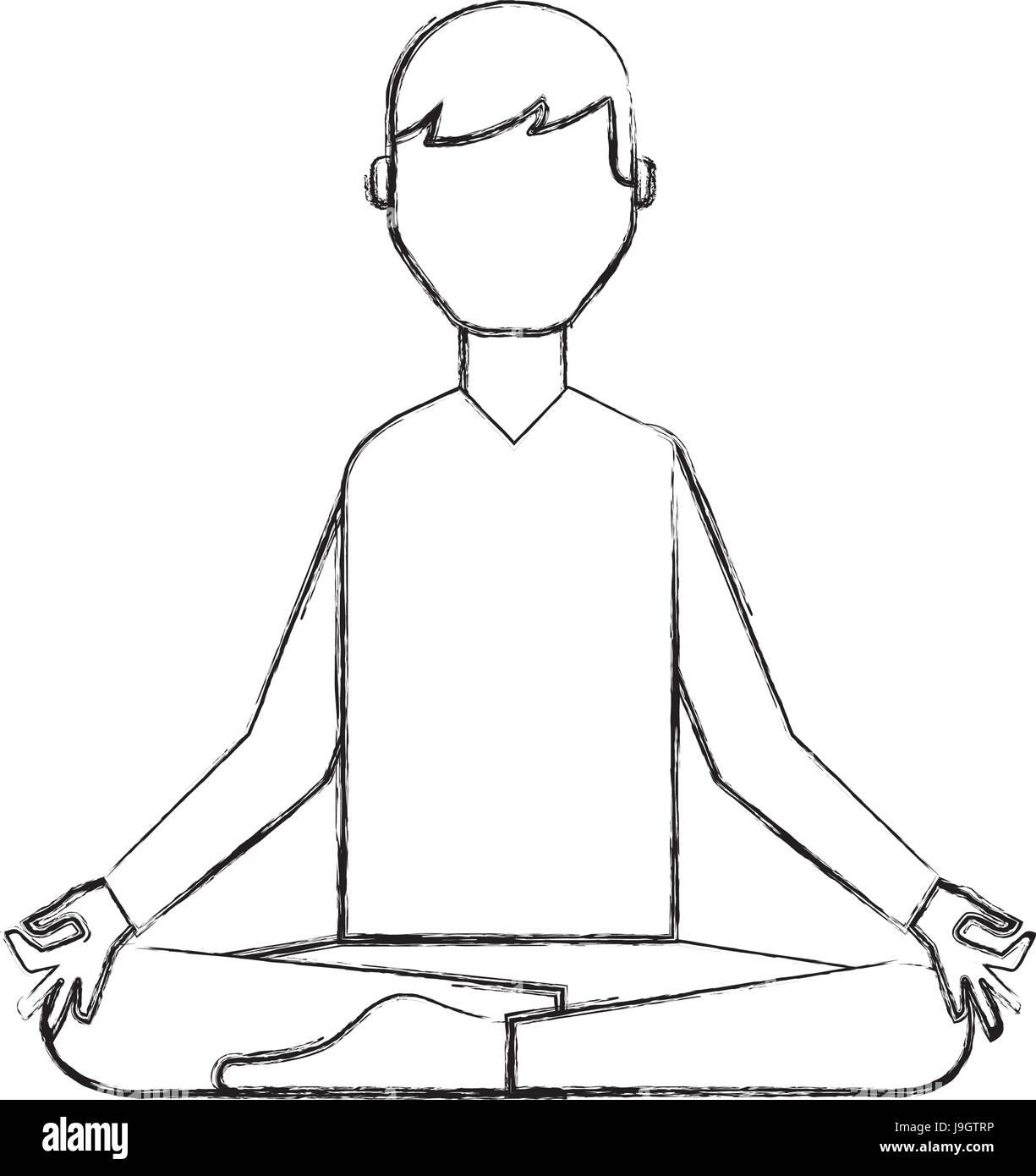 Sketch Yoga Woman Stockfotos & Sketch Yoga Woman Bilder ...