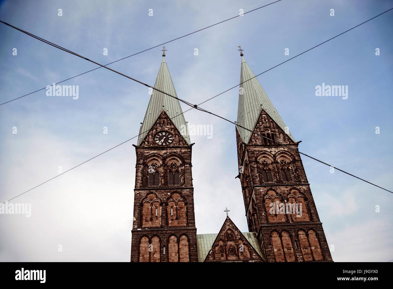 St. Petri Dom Bremen Stockbild