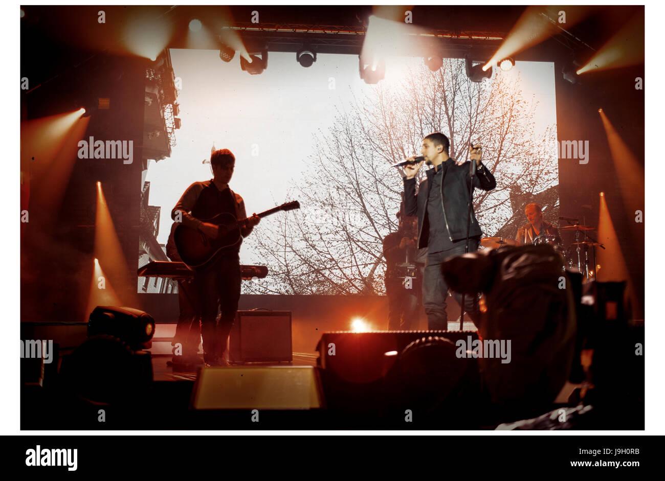 Andreas Bourani auf der ESC After Show Party Stockbild