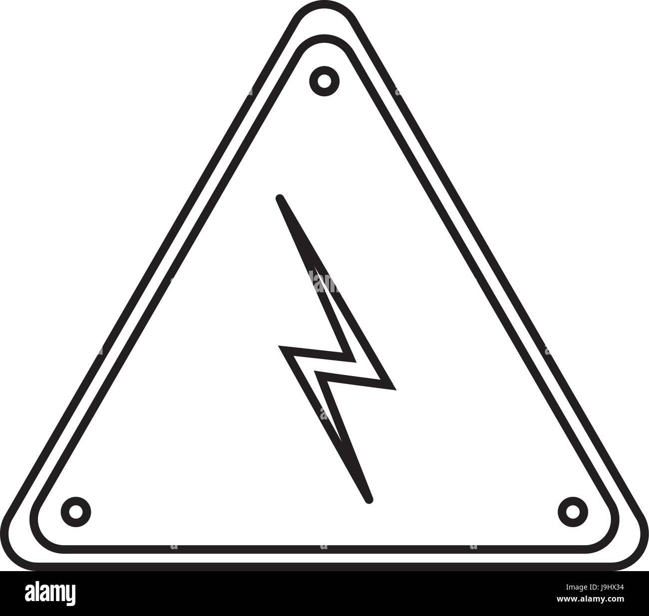 Elektro Warnzeichen Stock Vektorgrafik   Alamy
