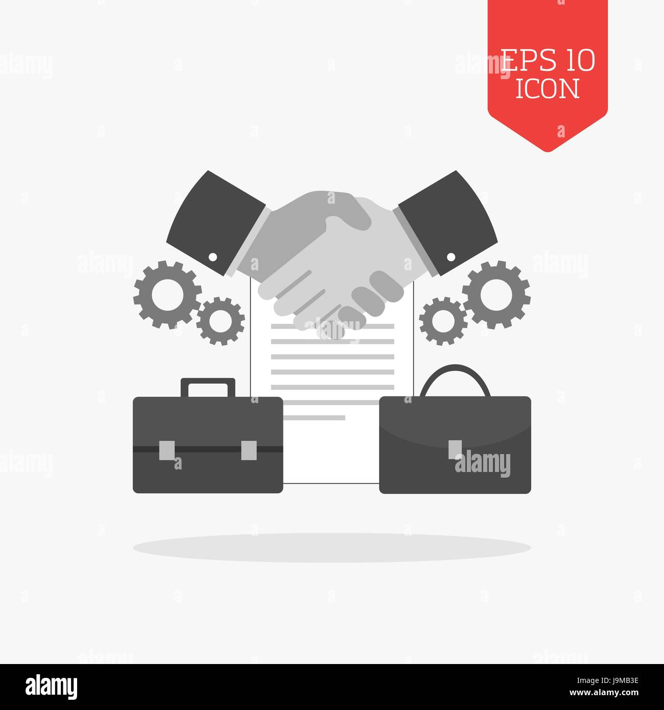 Handshake Abstract Logo Design Template Stockfotos & Handshake ...