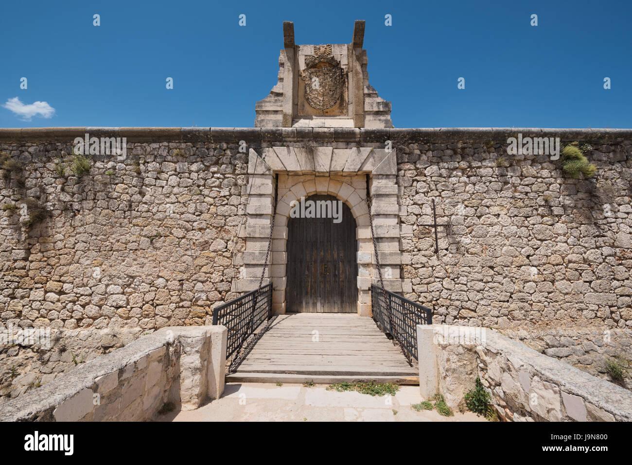 Chinchon Burg, berühmte Lanmark in Madrid, Spanien. Stockbild