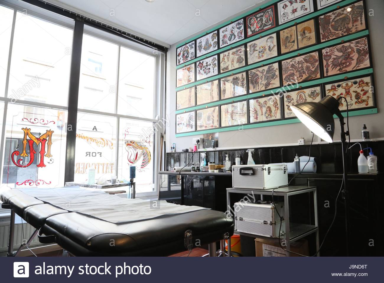 Tattoo Studio London Brick Lane Stockbild