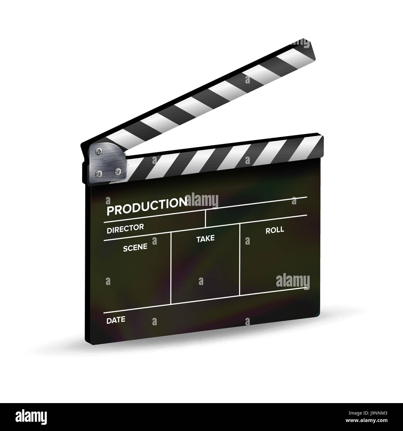 Clapper Board Vektor. Vorlage-Schindeln. Film-Equipment Vektor ...