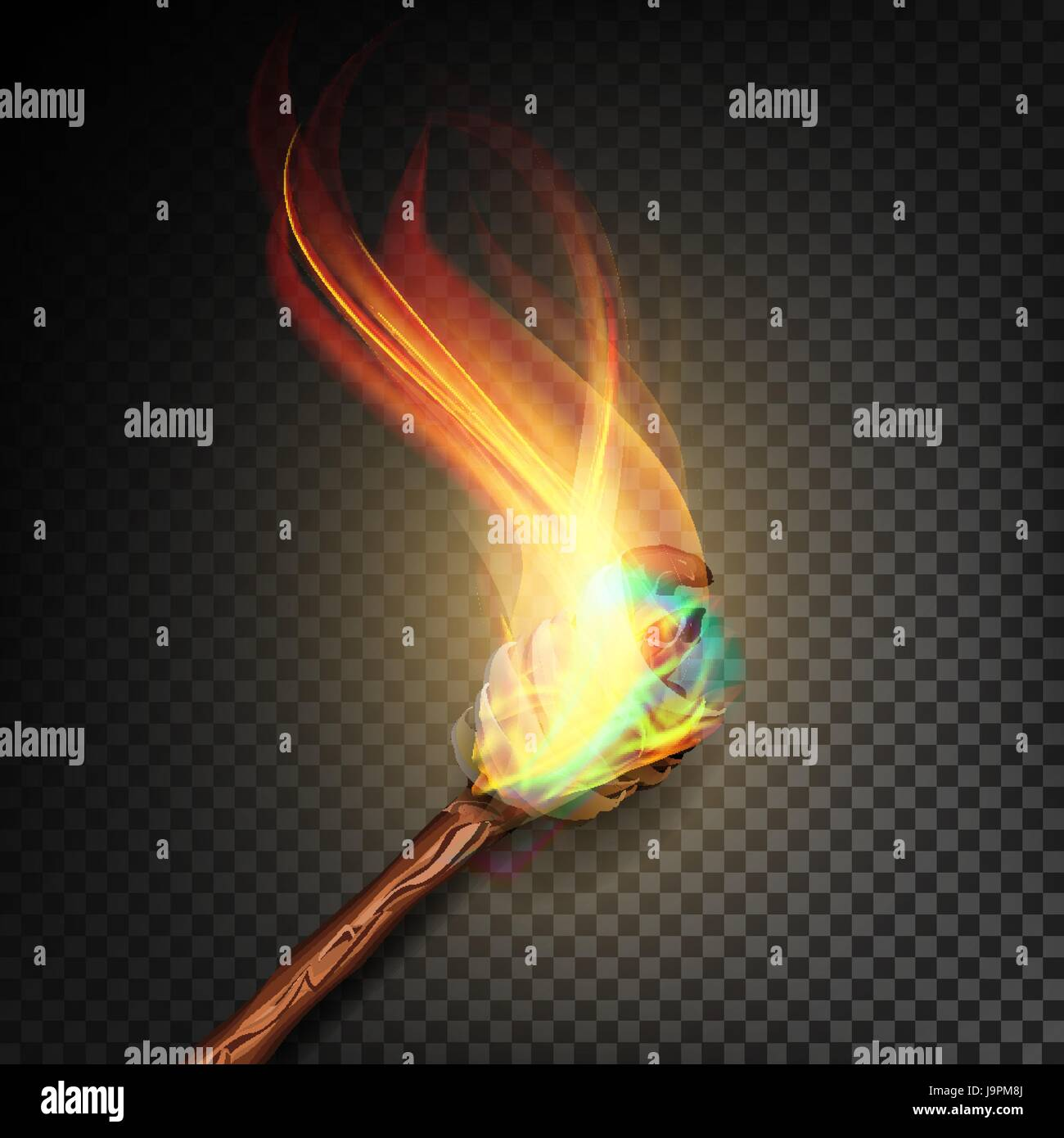 Fire Torch Isolated Stockfotos Fire Torch Isolated Bilder Alamy