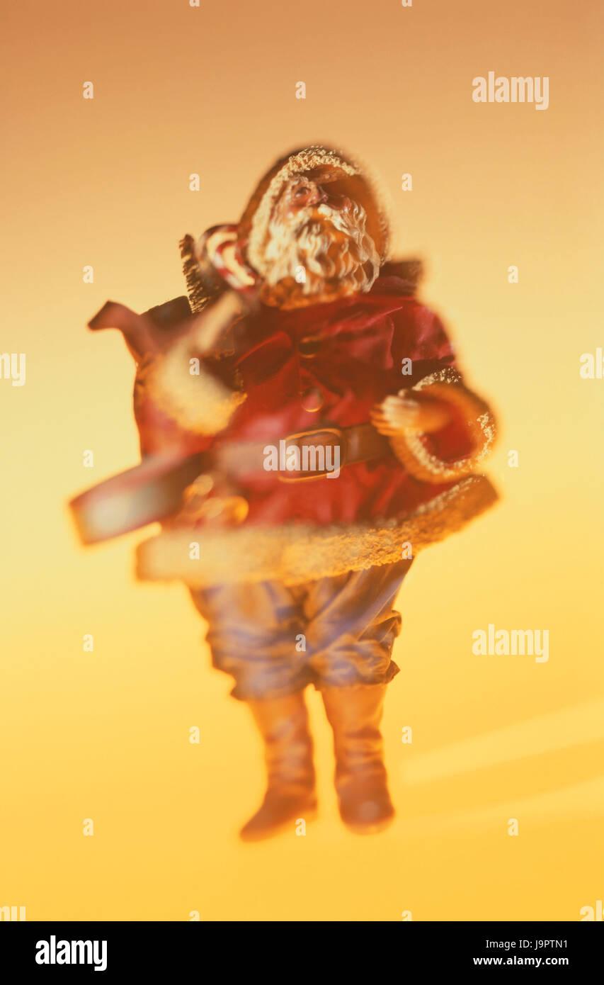 Weihnachtsdekoration, Charakter, Santa Claus, blur, Weihnachten, Nikolaus Abend, Deko, Dekofigur, Dekorationsartikel, Stockfoto